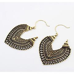 Dames Druppel oorbellen Dangle Oorbellen Liefde Europees Kostuum juwelen Modieus Afrika Vintage Gesneden Legering Hartvorm Bloemvorm