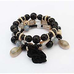 Βραχιόλια Strand Φιλία Μοντέρνα Ευρωπαϊκό Ακρυλικό Cowry Γυαλί Όστρακο Κράμα Κοσμήματα Λευκό Μαύρο Ουράνιο Τόξο Κόκκινο Μπλε Κοσμήματα Για