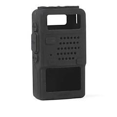 baofeng uv-5r serisi iki yönlü telsiz walkie talkie için kompakt, dayanıklı, yumuşak silikon tam koruma kapağı durumda
