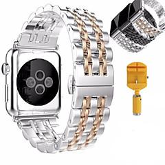Banda de relogios para maçã série 1 2 pulseira de aço inoxidável pulseira de borboleta