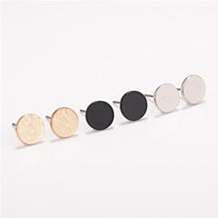 Mulheres Brincos Curtos Jóias Circular bijuterias Moda Personalizado Euramerican Liga Forma Redonda Jóias Para Diário Casual