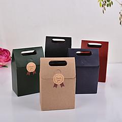 10PCS 15 * 9.8 * 5.8cm 크래프트 종이 가방 파티 또는 결혼식 선물 및 설탕 포장