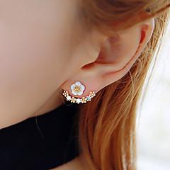 Dames Oorknopjes Zirkonia Vriendschap Modieus Kostuum juwelen Hars Strass Verguld Bloemvorm Madeliefje Sieraden Voor Feest Verjaardag