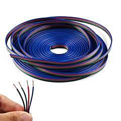 4 farve 20m rgb forlængerkabel for led strip rgb 5050 3528 ledning 4pin