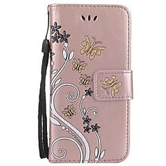 Dla samsung galaxy a3 2017 a5 2017 portmonetka z portfelem z podstawką flip wytłoczona skrzynka korpus przypadku kwiat twardy pu do a7