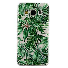 Dla samsung galaxy a3 a5 (2017) pokrowiec na pokrycie zielonych liści wzór kropla lakieru wysokiej jakości tpu materiał obudowa telefonu