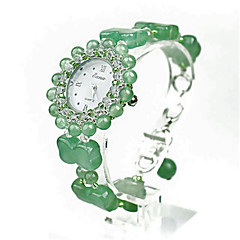 Női Divatos óra Kvarc Jádekő Zenekar Zöld