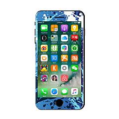 1 db Karcolásvédő Olajfestmény Átlátszó szintetikus Matrica Sötétben világító Minta MertiPhone 7 Plus iPhone 7 iPhone 6s Plus/6 Plus