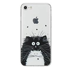 Voor iPhone X iPhone 8 Hoesje cover Patroon Achterkantje hoesje Kat dier Zacht TPU voor Apple iPhone X iPhone 7s Plus iPhone 8 iPhone 7