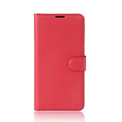 Voor alcatel a3 a3 xl hoesje dekking kaarthouder portemonnee met tribune flip full body hoesje vaste kleur hard pu leer voor alcate-serie