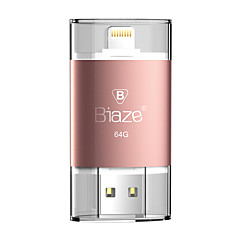 Biaze 64gb otg flash drive u schijf voor ios windows voor iphone ipad pc