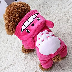 Kat Hond Jassen Hoodies Jumpsuits Broeken Hondenkleding Cosplay Houd Warm Halloween Dier Grijs Roos Bruin