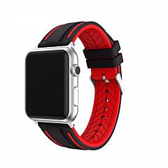 Banda de relogio para maçã watch serie 1 2 38mm bracelete de silicone clássico de fivela de 42mm