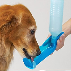 قط كلب الطاسات وزجاجات حيوانات أليفة السلطانيات والتغذية مقاوم للماء المحمول أحمر أزرق زهري