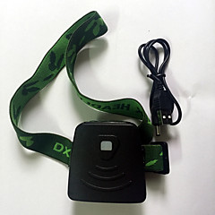 Fejlámpák LED 300 Lumen 1 Mód LED Li-ion Mini Akkummulátor Infravörös érzékelő Sürgősségi G-Sensor Kempingezés/Túrázás/Barlangászat