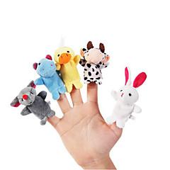 10pcs 세트 만화 동물 봉제 손가락 인형 애들 이야기 소품 어린이 숲 호의 인형