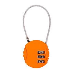 Ψευδαργύρου λουκέτο λουκέτο λουκέτο 3-ψήφιος κωδικός πρόσβασης για το ταξιδιωτικό γραφείο γραφείο γραφείο γυμναστήριο αντικλεπτικό μίνι