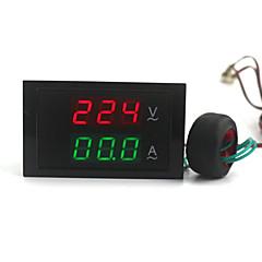 dijital çift ekran ac voltmetre ampermetre (100 ~ 300v / 0 ~ 100a)
