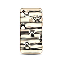 Θήκη για iphone 7 plus 7 κάλυμμα διαφανές πρότυπο κάλυμμα περίπτωσης περίπτωσης / κύματα μάτια μαλακό tpu για iphone 6s 6 plus 6s 6s 5s 5c