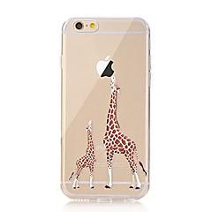 Voor iPhone X iPhone 8 Hoesje cover Transparant Patroon Achterkantje hoesje Spelen met Apple-logo dier Zacht TPU voor Apple iPhone X