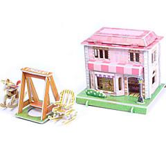 بانوراما الألغاز مجموعة اصنع بنفسك قطع تركيب3D اللبنات DIY اللعب بيت معمارية