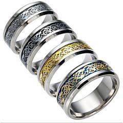 Férfi Női Páros gyűrűk Kocka cirkónia jelmez ékszerek Divat Titanium Acél Ékszerek Ékszerek Kompatibilitás Napi