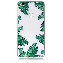 Θήκη για huawei p10 p10 lite κάλυψη περίπτωσης πράσινα φύλλα μοτίβο αίσθηση βερνίκι ανακούφιση υψηλή διείσδυση tpu υλικό θήκη για huawei