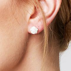 Dames Oorknopjes Basisontwerp Modieus Eenvoudige Stijl Kostuum juwelen Sterling zilver Bloemvorm Sieraden Voor Bruiloft Feest Dagelijks
