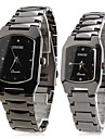 Men's Women's Couple's Dress Watch Quartz Japanese Quartz Band Black Brand