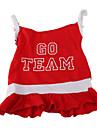 Chien Robe Rouge Vetements pour Chien Ete Printemps/Automne Lettre et chiffre Sportif