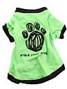 Chien Tee-shirt Vert Vetements pour Chien Ete Lettre et chiffre Decontracte / Quotidien