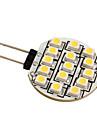 g4 3528 SMD 15-led 0.36w lampada luz branca quente para carro (12V DC)