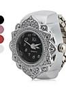 Женские Модные часы Японский кварц Кварцевый Нержавеющая сталь Группа Цветы Серебристый металл