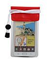 아이폰 4, 4S와 삼성 i9220 (빨간색)에 대한 끈과 투명한 PVC 방수 파우치
