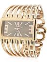 Металл Женская группа аналоговые кварцевые часы браслет с Роллинг Украшение бисером (Золотой)