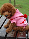 Cat / Dog Sweater / Hoodie Blue / Black / White / Pink Dog Clothes Winter Hearts