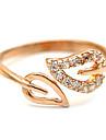 Anéis Ajustável Casamento / Pesta / Diário Jóias Cristal / Liga Feminino Anéis Grossos Dourado / Prateado