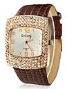 Women\'s Square Diamante Dial PU Band Quartz Analog Wrist Watch (Assorted Colors) Cool Watches Unique Watches