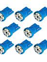 8x T10 194 168 501 4-SMD 3528 LED ampoule de voiture bleue