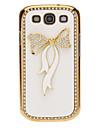 Cristal de Bling Housse en cuir de modèle de Bowknot pour Samsung Galaxy S3 I9300