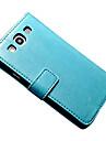 용 삼성 갤럭시 케이스 지갑 / 카드 홀더 / 스탠드 / 플립 / 마그네틱 케이스 풀 바디 케이스 단색 인조 가죽 SamsungS7 plus / S7 / S6 edge plus / S6 edge / S6 / S5 Mini / S5 / S4 /