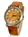 Женские Модные часы Кварцевый PU Группа Винтаж Черный Белый Коричневый Хаки Роуз