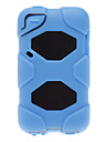 Solid Color 2-in-1 Design Silicone Soft Case with Black Hard Inside Cover for iPod Touch 4(Assorted Colors)