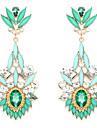 Boucles d'oreille goutte Bijoux Femme Mariage Soirée Quotidien Cristal Alliage Vert