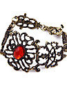 European And American Jewelry Retro 20.5cm Ruby Alloy Hollow Flower Vine Flower Bracelet Bangle B335