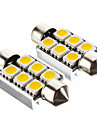 Festoon 차 웜 화이트 SMD 5050 3000 사이드 마커 라이트 브레이크 라이트 도어 램프 인스루먼트 라이트 리딩 라이트