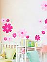 Πανέμορφο λουλούδι μοτίβο PVC DIY Wall Paper
