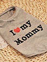 Cat Dog Shirt / T-Shirt Gray Dog Clothes Summer Spring/Fall Hearts Cute Casual/Daily Birthday
