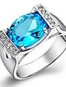 классические женские голубые платины латунь сведений кольца (1шт)