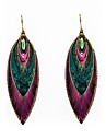 Drop Earrings Enamel Alloy Feather Peacock Jewelry Party Daily Casual
